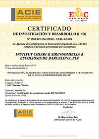 Certificado de Investigación y Desarrollo 2012