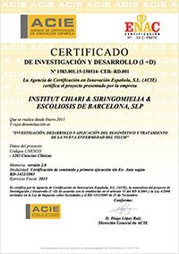Certificado de Investigación y Desarrollo 2013