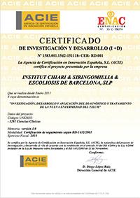 Certificado de Investigación y Desarrollo 2014