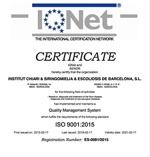 Certificado de Centro de Calidad por AENOR